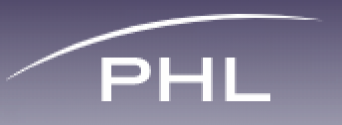 Philadelphia International Airport logo, with letters P H L and a curved line