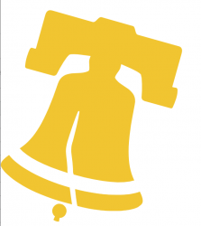 City of Philadelphia logo, consisting of yellow liberty bell and name